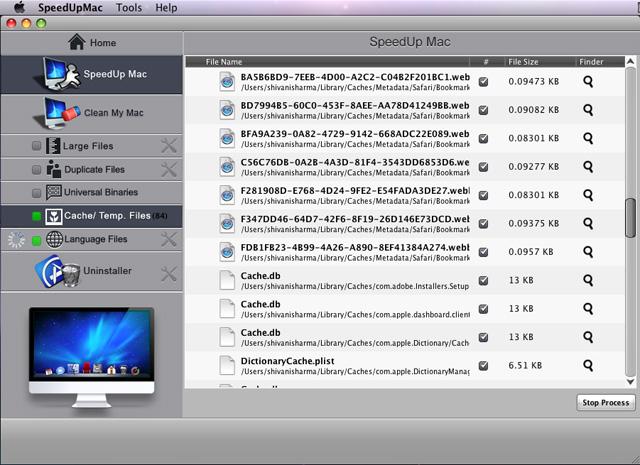 opschonen van een mac computer
