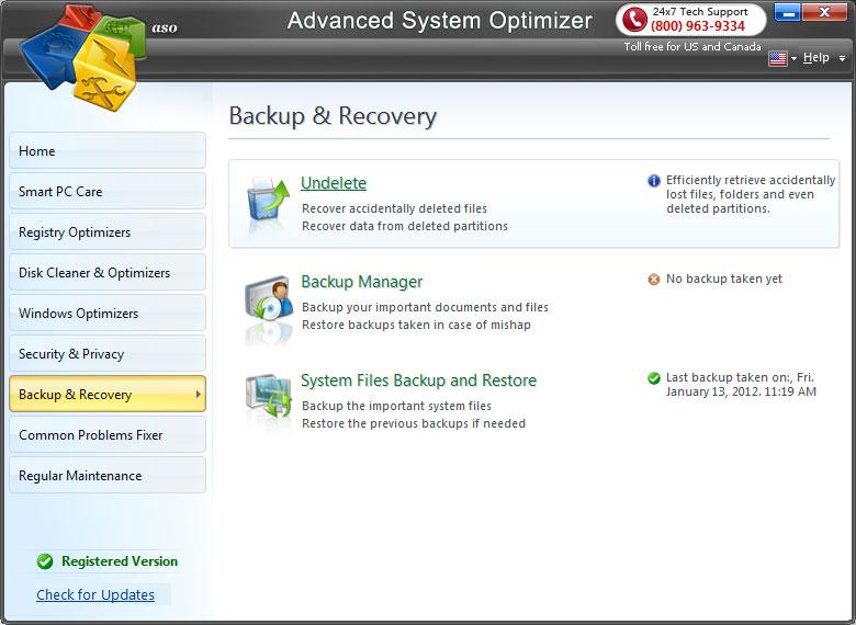 Advanced System Optimizer Systweak overzicht