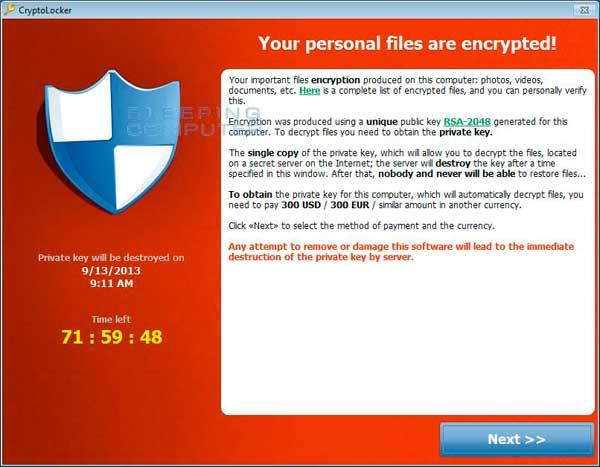 cryptolocker verwijderen