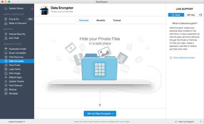 Mackeeper data encryptor